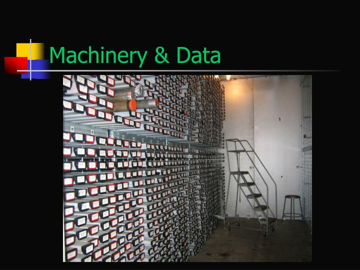 Machinery & Data