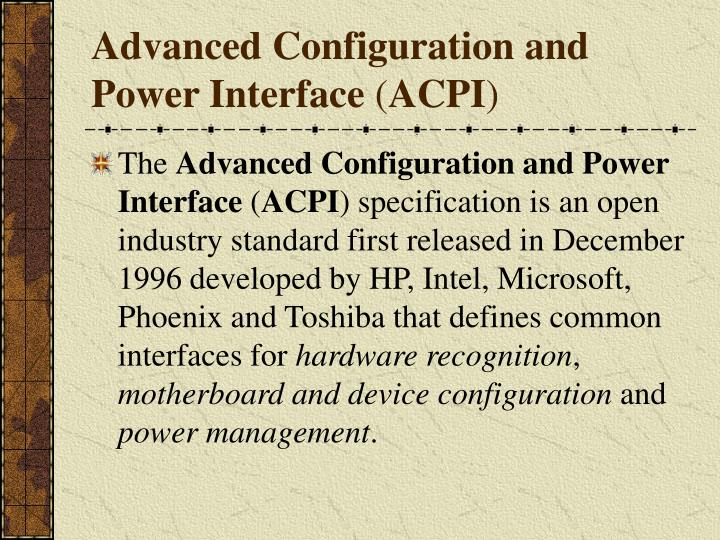 Advanced Configuration and Power Interface