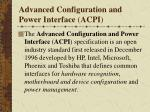 advanced configuration and power interface acpi