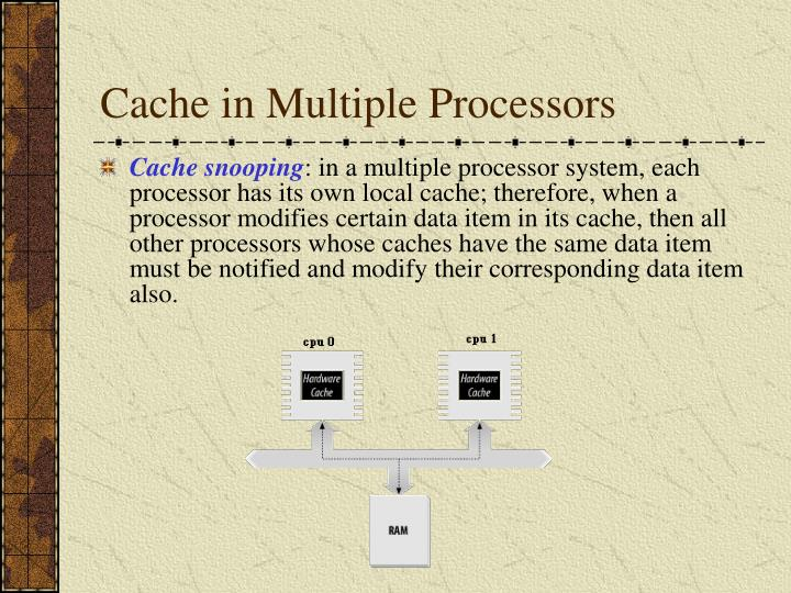 Cache in Multiple Processors