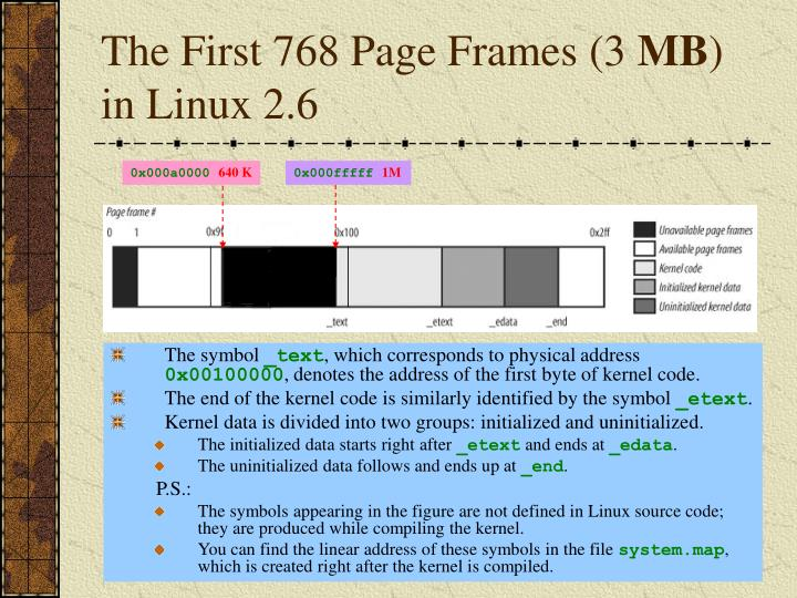 The First 768 Page Frames (3