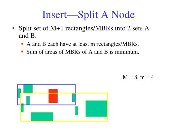 Insert—Split A Node