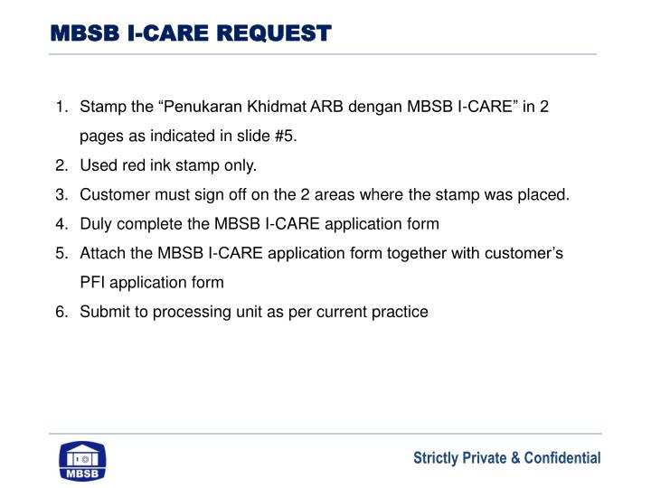 MBSB I-CARE REQUEST