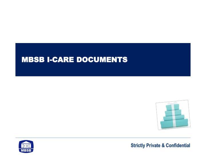 MBSB I-CARE DOCUMENTS