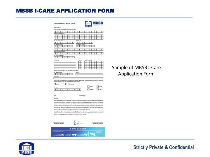 MBSB I-CARE APPLICATION FORM