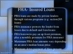 fha insured loans