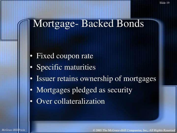 Mortgage- Backed Bonds