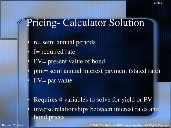 Pricing- Calculator Solution