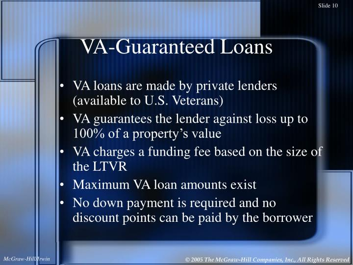 VA-Guaranteed Loans