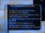 va guaranteed loans