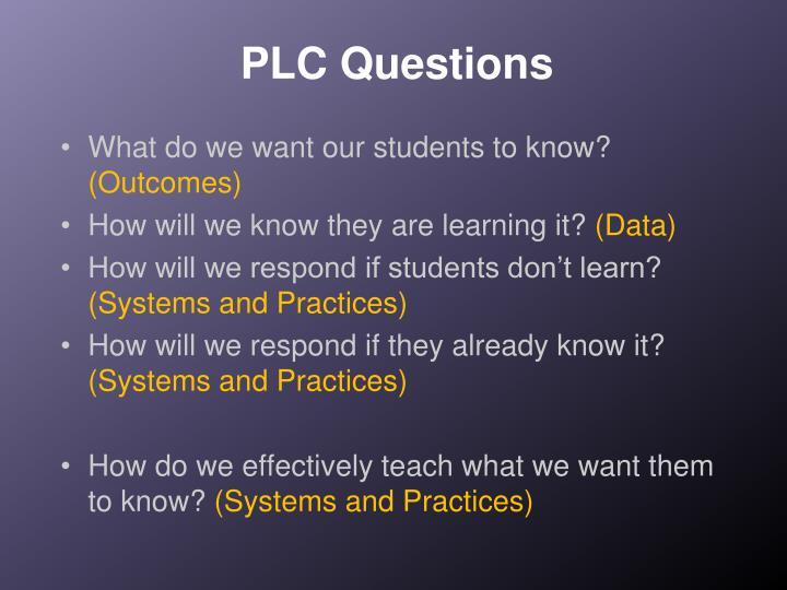 PLC Questions