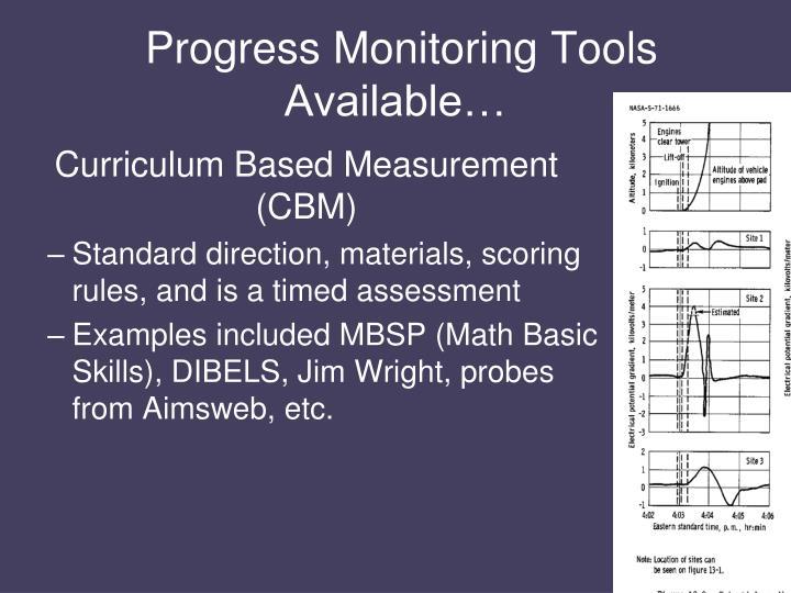 Progress Monitoring Tools Available…