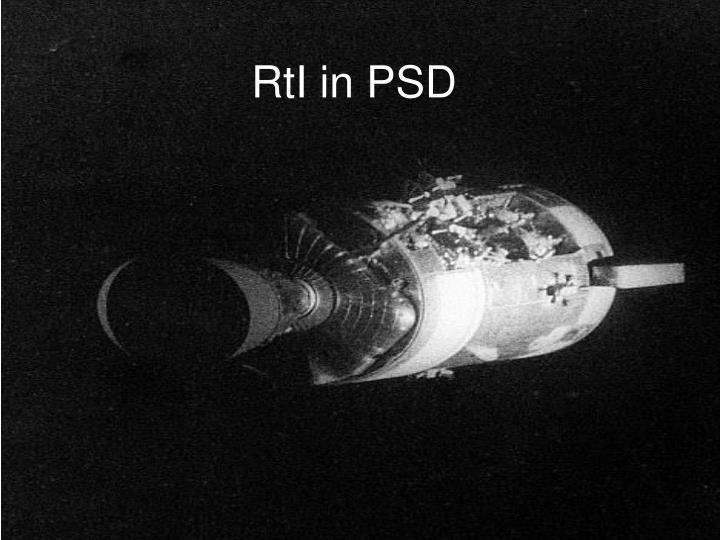 RtI in PSD