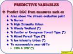 predictive variables