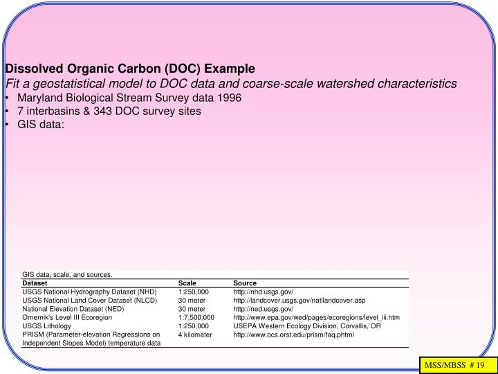 Dissolved Organic Carbon (DOC) Example