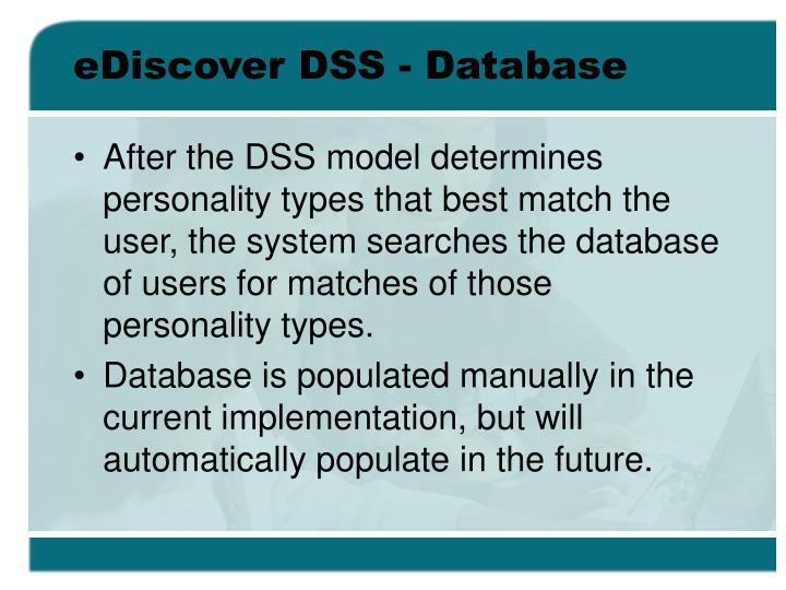 eDiscover DSS - Database