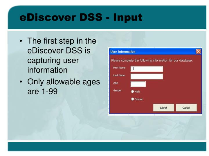 eDiscover DSS - Input