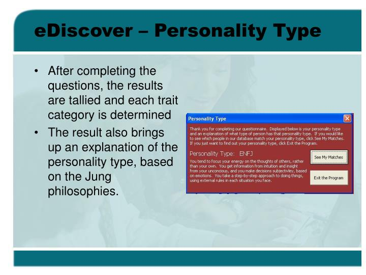 eDiscover – Personality Type