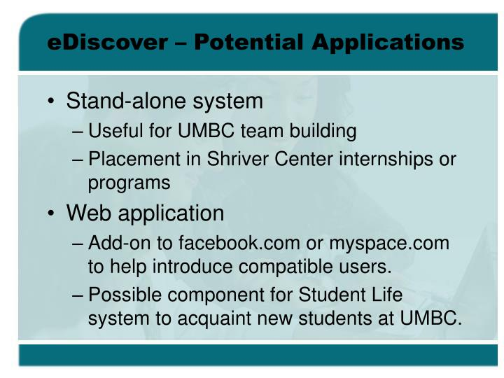 eDiscover – Potential Applications
