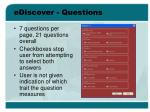ediscover questions