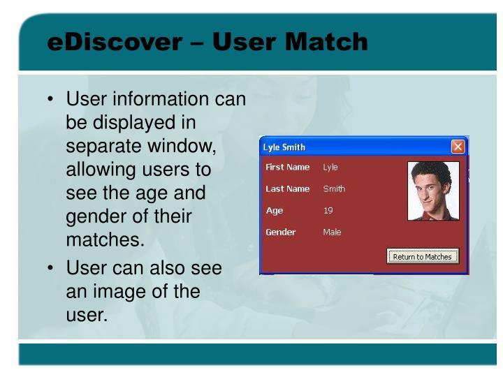 eDiscover – User Match