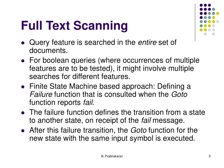Full Text Scanning