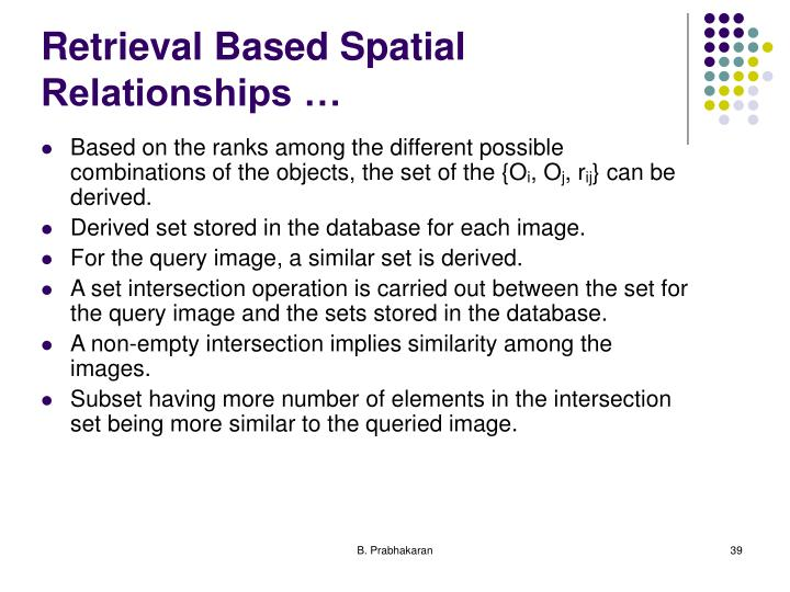 Retrieval Based Spatial Relationships …