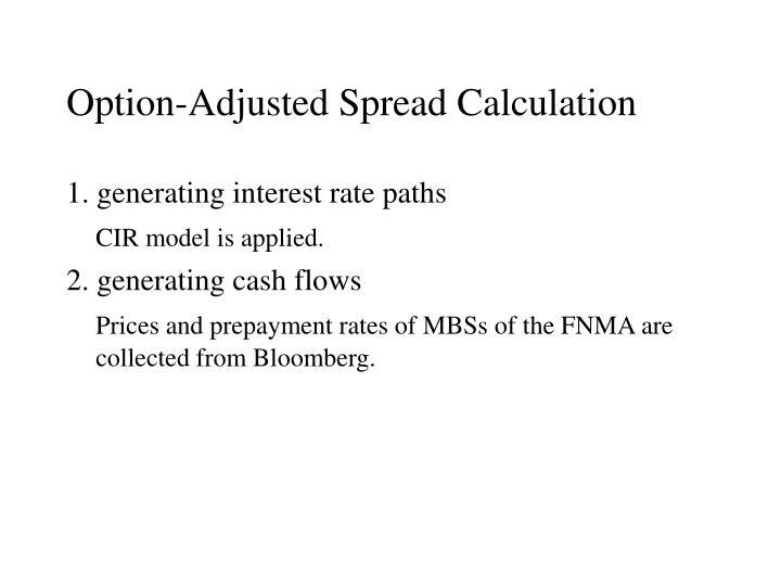 Option-Adjusted Spread Calculation