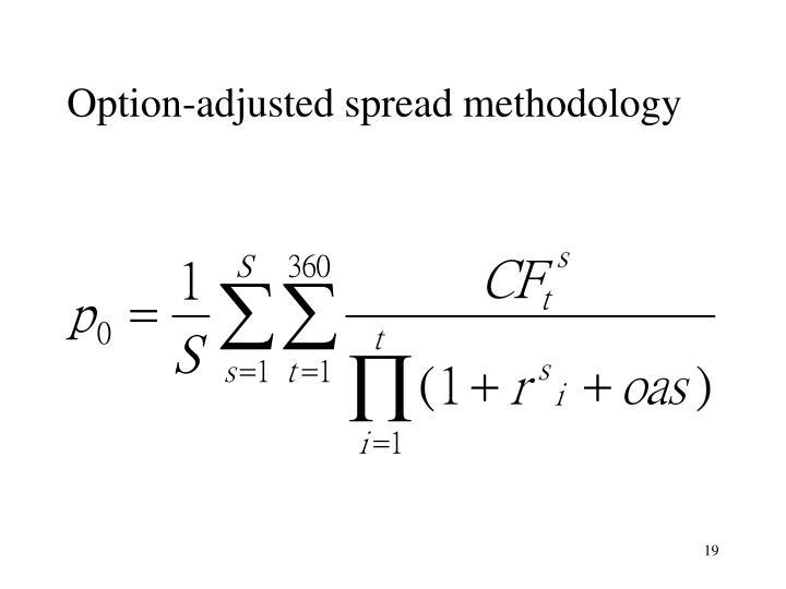Option-adjusted spread methodology