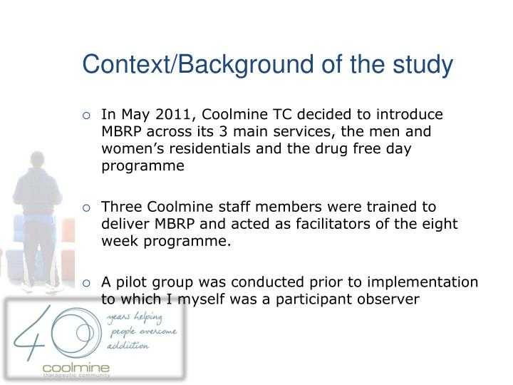 Context/Background of the study