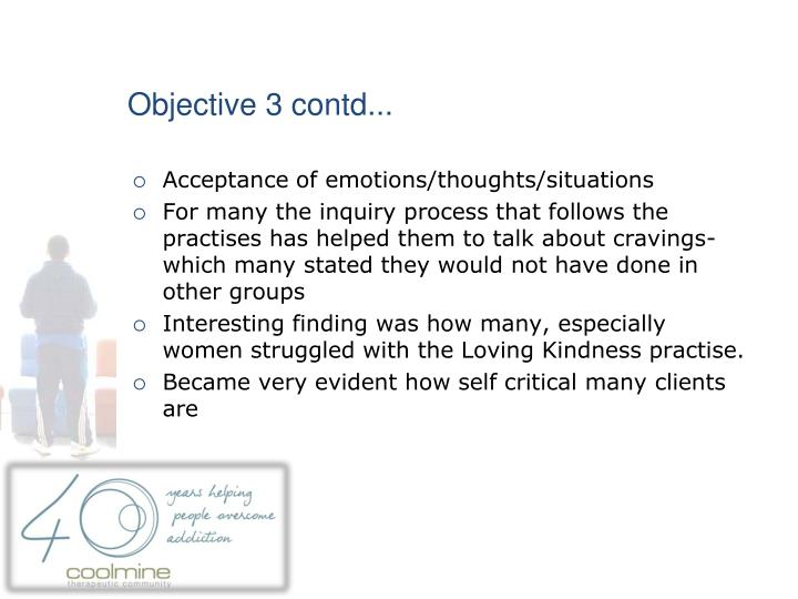 Objective 3 contd...