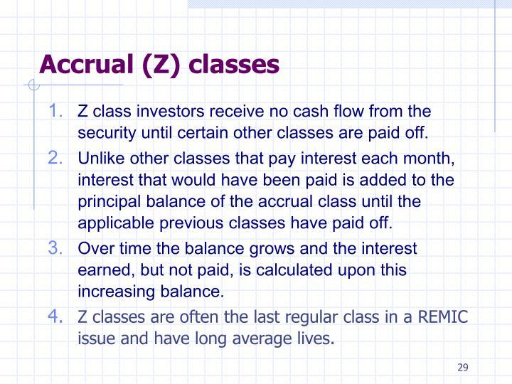 Accrual (Z) classes