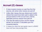 accrual z classes