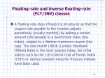 floating rate and inverse floating rate flt inv classes