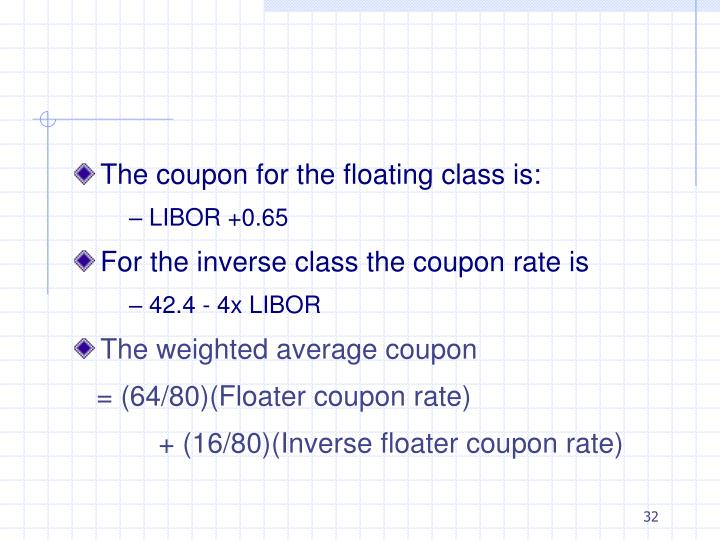 The coupon for the floating class is: