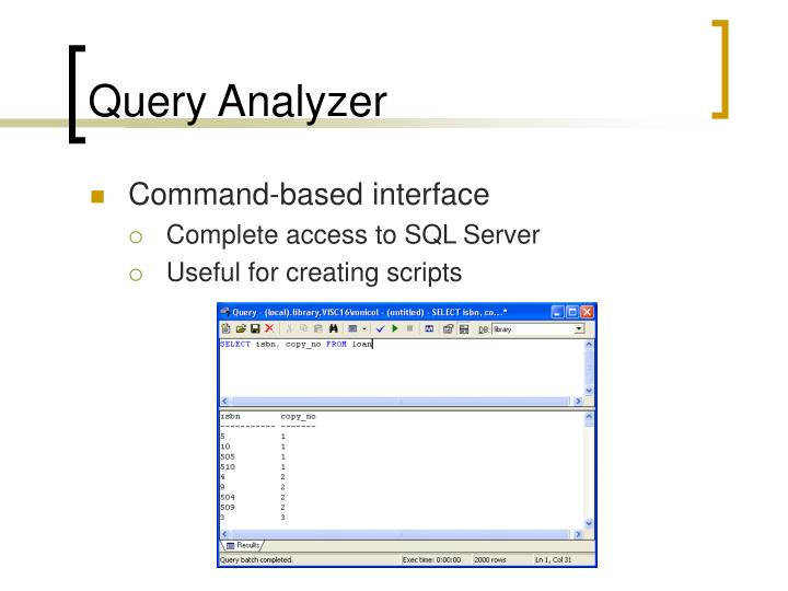 Query Analyzer
