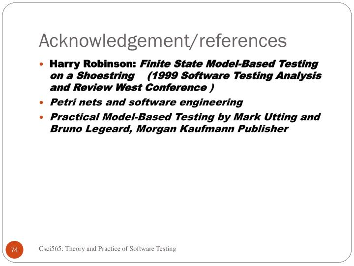 Acknowledgement/references