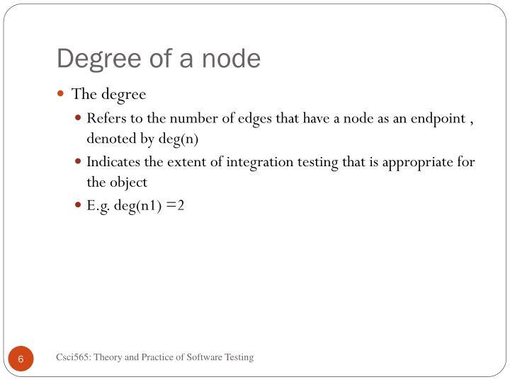 Degree of a node