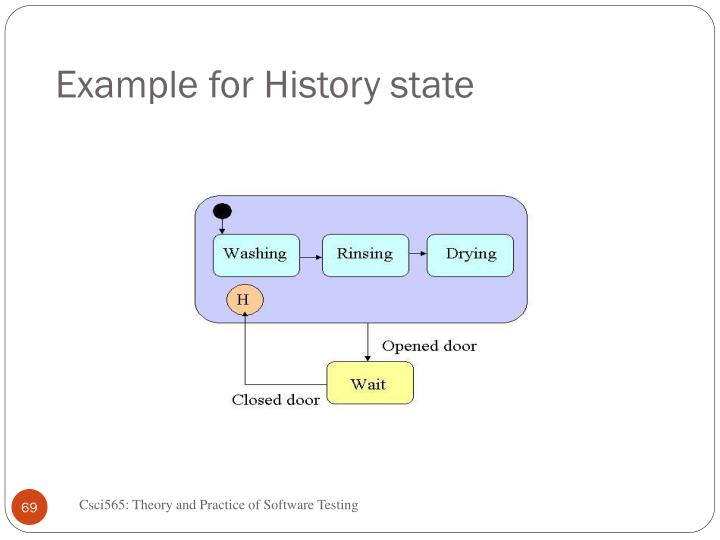 Example for History state