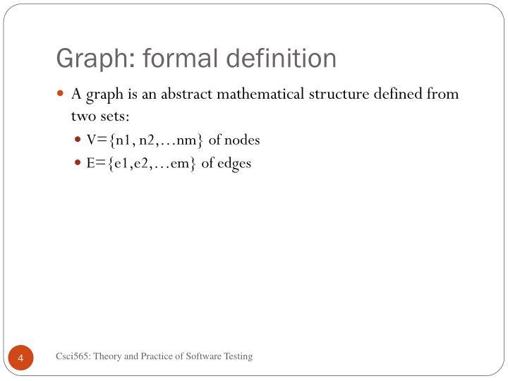 Graph: formal definition