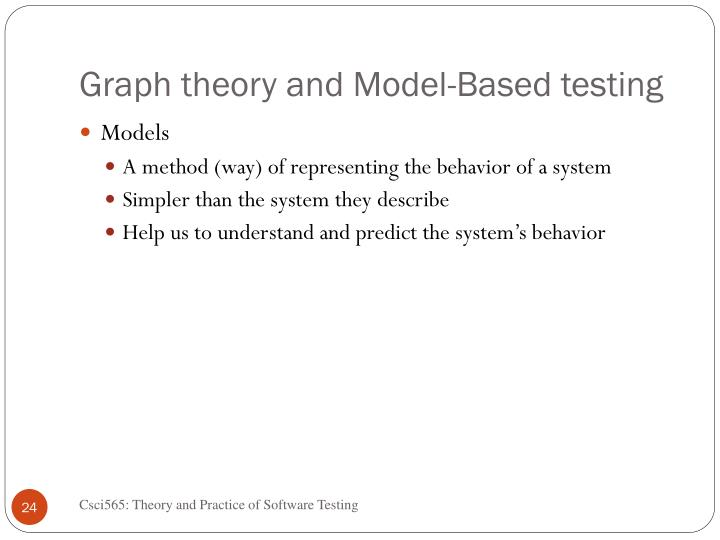 Graph theory and Model-Based testing