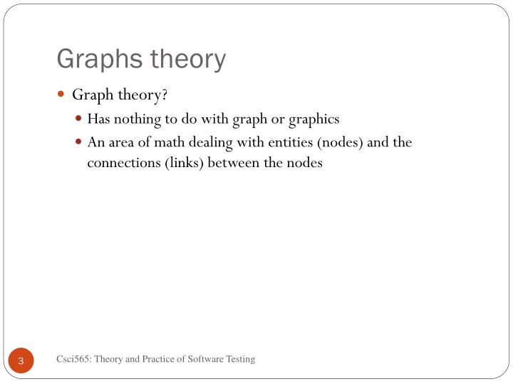 Graphs theory
