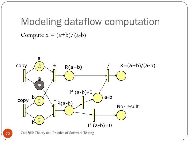 Modeling dataflow computation