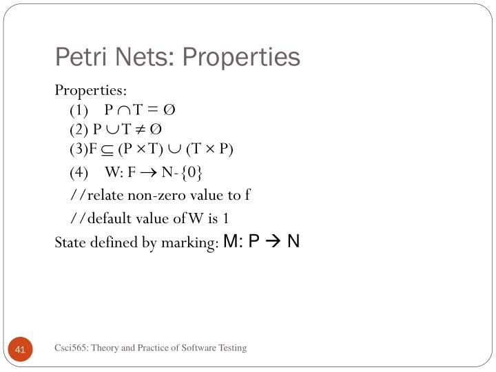 Petri Nets: Properties