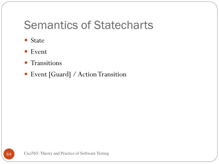 Semantics of Statecharts