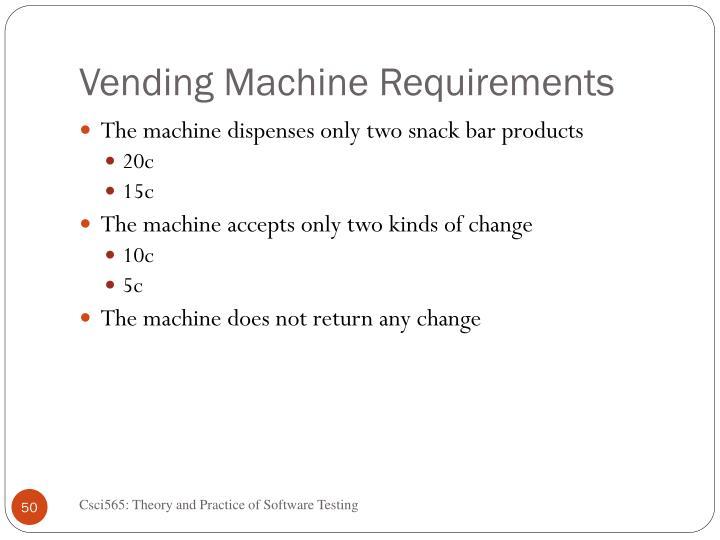 Vending Machine Requirements