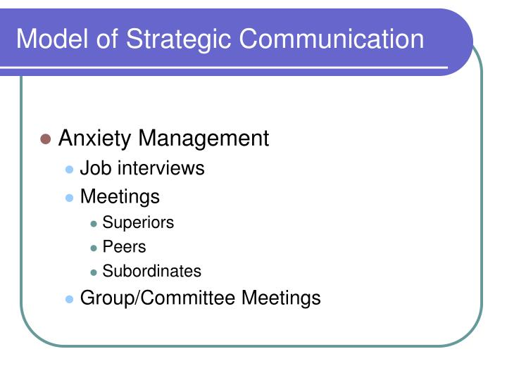 Model of Strategic Communication