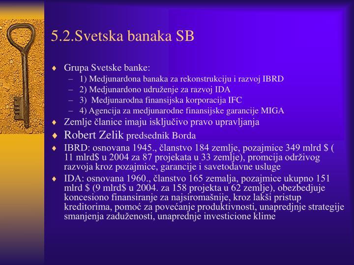 5.2.Svetska banaka SB