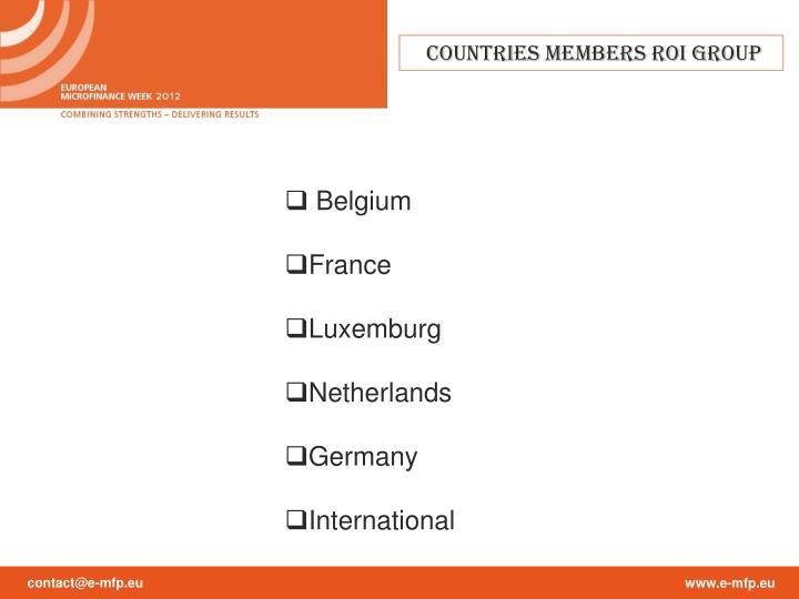 Countries Members ROI Group
