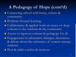 a pedagogy of hope cont d